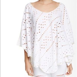 Free People Dot to Dot T-Shirt Large White